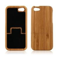 Buy cheap Handmade Real Bamboo Wood Cell Phone Cases Back Hard Case Cover for iPhone 5 from wholesalers