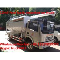 Buy cheap hydraulic discharging 12m3 5-6tons factory sale bulk feed delivery truck for sale, poultry feed body mounted on truck from wholesalers