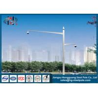 Buy cheap Double Arms Camera Mounting Post Traffic Monitoring Galvanised Steel Pole from wholesalers
