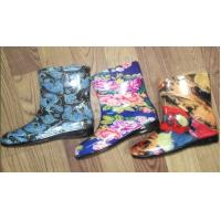 Buy cheap PVC Ankle Rain Boots , Patterned UK Size 3-8 Colorful Polyester Lining from wholesalers