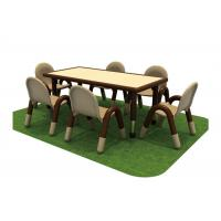 Buy cheap Kindergarten Children Table And Chairs Top With PP Plastic  ISO9001 from wholesalers