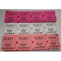 China Non Toxic Perforated lottery Ticket Printing Raffle Coupon Paper Supply Disposable on sale