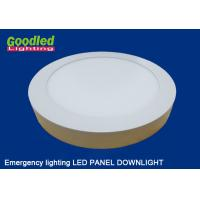 Buy cheap Emergency Round / Square LED Ceiling Panel Light 15 watt 1100lm for Hotels, Restaurants from wholesalers