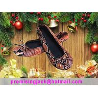 Buy cheap New Fashion Christmas Promotion Gift Colorful Fake Snake Skin of Fold Up Ballet Flats for Women and Ladies from wholesalers