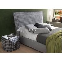 Buy cheap Modern Fabric Design Wooden Bed Frame Villa Bedroom Upholstered Bed from wholesalers