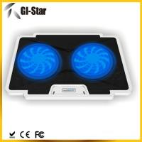 Buy cheap 5 adjustable angles, 2 USB2.0 HUB, 2 fan ,Laptop coolers with different colors from wholesalers