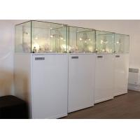 Buy cheap Material Wooden White Lighting Retail Glass Display Cases / Museum Glass Case product
