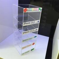 Buy cheap hot sales customed design acrylic wall charger display stand from wholesalers