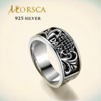 morsca sterling 925 engraved silver ring with cz 104762340