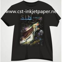 Buy cheap 190gsm dark color Iron on Inkjet T-shirt transfer paper for 100% cotton material from wholesalers