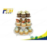 Buy cheap Round Cardboard Cake Display 3 Layers 100% Recycling For Wedding Birthday Parties from wholesalers