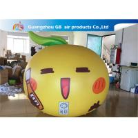 Buy cheap Yellow Ball Apple Shape Inflated Helium Balloons Smile Airtight For Advertisement product