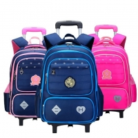 Buy cheap Childrens Pull Rod Stair Climbing Kids School Bags With Wheels product