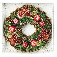 Buy cheap Artificial Home Decoration Christmas Garland, Decorated with Small Gift, Berries and Pine Cones from wholesalers