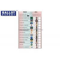 Buy cheap Wood Pulp Uncoated Ballot Voting Paper Color Customized For Election from wholesalers