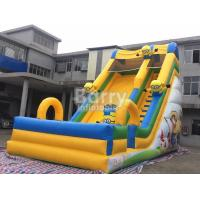Buy cheap Commercial Inflatable Bounce Slide Outdoor Small Minions Inflatable Slide For Kids from wholesalers