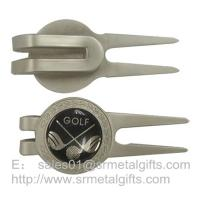 Buy cheap Small quantity wholesale metal golf pitchfork with golf design epoxy dome, from wholesalers