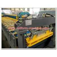 Buy cheap Trapezoid Shape Steel Roofing / Wall Sheet Making Machine with Chrome Coated Rollers from wholesalers