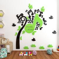 Buy cheap China supplier Acrylic Mirror Wall Stickers /Adhesive Decor Wall music tree wall sticker mirror from wholesalers