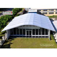 Buy cheap Arch Large White Tent With Glass Wallss And Doors For Elegant multiply Outdoor Events product