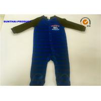 Buy cheap Fall / Winter Baby Footed Pajamas , Long Sleeves Newborn Pram Suit Sample Approval from wholesalers