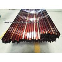 Buy cheap Custom Extruded Aluminum Extrusions / Profiles For Sliding Door Wood Grain Effect from wholesalers