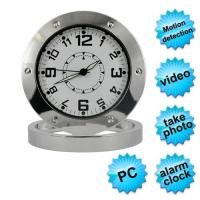 Buy cheap Mini Table Clock Spy Video Record Camera Support Motion Detection and PC Camera from wholesalers