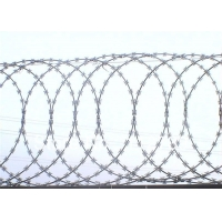Buy cheap Galvanized razor wire coils  anti-rust razor blade barbed wire for cross razor type decorative barbed wire fancing from wholesalers