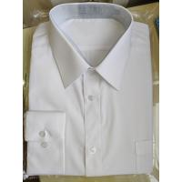 Buy cheap 45X45 Yarn Count Mens Casual White Long Sleeve Shirt Personalized Custom Design from wholesalers