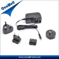Buy cheap Cenwell 12V2A interchangeable US EU UK AU plug power adapter CE FCC SAA approval from wholesalers