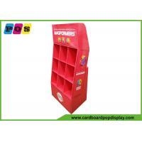 ODM / OEM 9 Cells Cardboard Floor Displays , POS PDQ Product Display For Magnetic Toy Set POC042