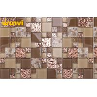 Buy cheap Low Water Absorption Indoor Decorative Glass Iridescent Mosaic Tiles from wholesalers