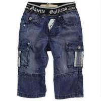 Buy cheap Customizable trendy Breathable kid fashion jeans shorts jeans for boy from wholesalers