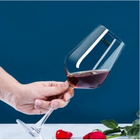 Buy cheap Clear Thick Bases LFGB Unleaded Stemmed Goblet Wine Glasses from wholesalers