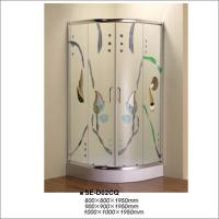 Buy cheap Curved Corner Shower Enclosure , Colorful Glass Luxury Bathroom Shower Stalls from wholesalers