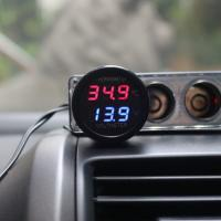 Buy cheap 2 In 1 DC 12V Digital Car Voltmeter Thermometer Temperature Meter Battery Monitor from wholesalers