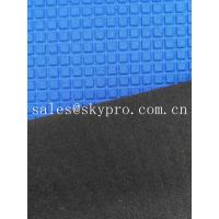 Buy cheap Super Stretch Square Pattern Blue Neoprene Rubber Sheet Coated Nylon Fabric Roll product