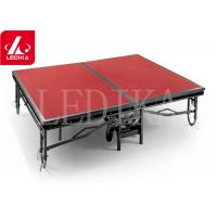 Buy cheap Red Folding Stages Platform Stage Roof Truss With Adjustable Pillars from wholesalers