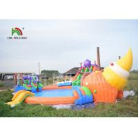 Buy cheap Commercial 3 In 1 Inflatable Water Parks With Swimming Pool Slide For Party from wholesalers