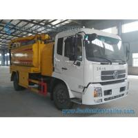 Buy cheap Vacuum Suction Sewer Cleaning Truck Vacuum Tank Truck Dual Axle DONGFENG 210hp from wholesalers