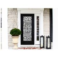 China Durable Wrought Iron Glass Inlaid Door , Decorations Wrought Iron Interior Doors on sale
