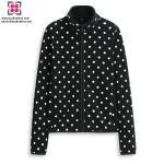 Buy cheap Wholesale Custom Women Polar Fleece Polyester Long Sleeve Dot Jacket from wholesalers