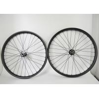 Buy cheap 27.5 Tubeless Wheelset , Carbon Fiber Bicycle Wheels Clincher / Hookless Type from wholesalers