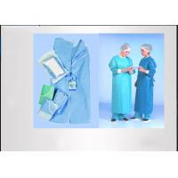 Buy cheap Feeling Soft Disposable Isolation Gowns , Disposable Surgical Gown Convenient Good Tensile Strength from wholesalers