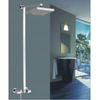 Buy cheap 8 Brass square Wall Mounted Shower Mixer Taps Rainshower Chrome FOR kitchen from wholesalers