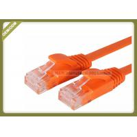 Buy cheap Cat5e Copper Network Patch Cable Multi Wire With Orange Color PVC Jacket from wholesalers