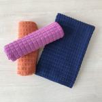Buy cheap Small grid warp knitting microfiber absorbing water car washing magic towels from wholesalers