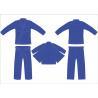 Buy cheap Heavy Royal Blue Hemp Bjj Gi Youth Jiu Jitsu Gi Pant Twill Tape With 4Row Threads from wholesalers