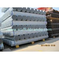 Buy cheap High quality Q235 HDG scaffolding steel pipe, galvanized painted black steel tubes for construction 48.3MMOD 6000MM from wholesalers