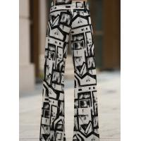 Buy cheap Black And White Colors Womens High Waisted Pants Wide Leg Different Sizes from wholesalers